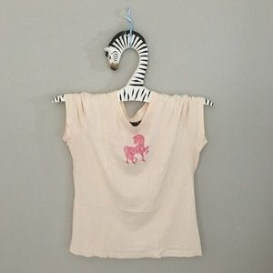 🌸🆒 Lucky Brand ✬ Embroidery Sign of the Horse T